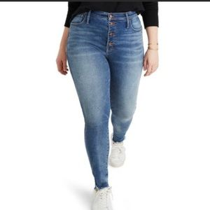 MADEWELL High Rise Skinny Button Fly Size 33